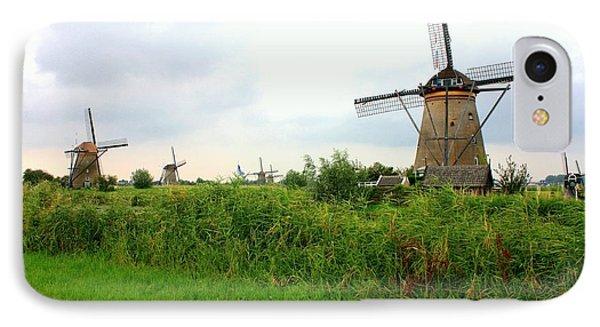 Dutch Landscape With Windmills Phone Case by Carol Groenen