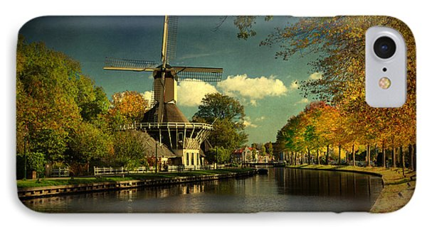 IPhone Case featuring the photograph Dutch Windmill by Annie Snel