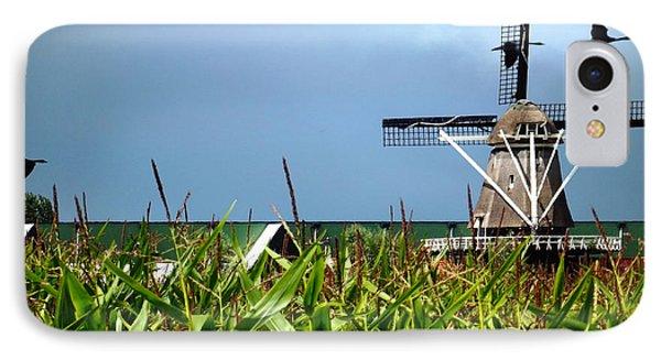 Dutch Windmill In Summer Phone Case by Yvon van der Wijk