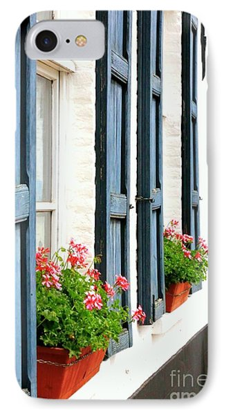 Dutch Window Boxes IPhone Case by Carol Groenen
