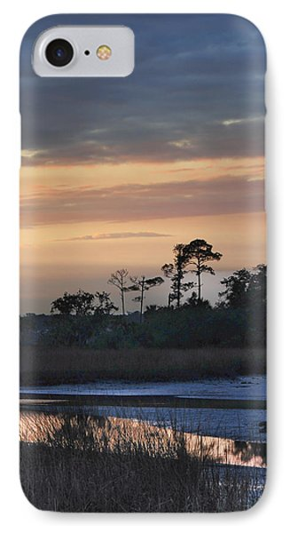 IPhone Case featuring the photograph Dutton Island At Dusk by Phyllis Peterson