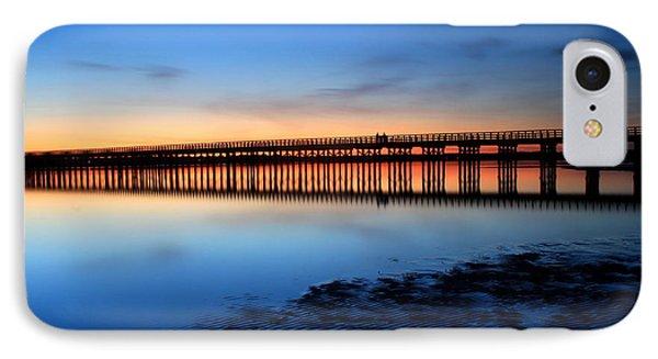 Duxbury Beach Powder Point Bridge Twilight IPhone Case by John Burk