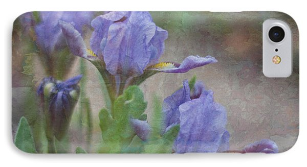 IPhone Case featuring the photograph Dwarf Iris With Texture by Patti Deters
