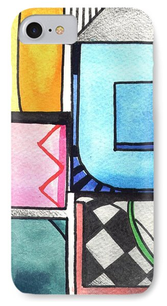 Dwelling In The Square Phone Case by Helena Tiainen