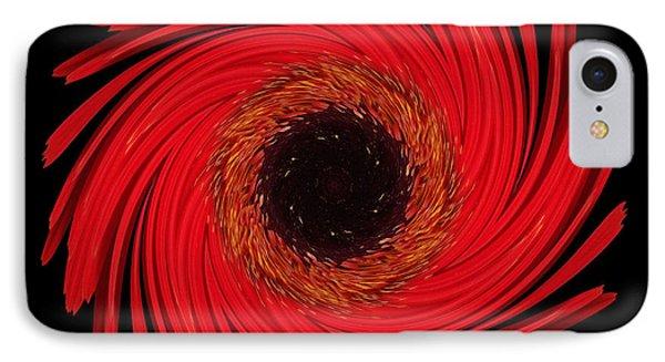 Dying Amaryllis Flower Mandala IPhone Case by David J Bookbinder