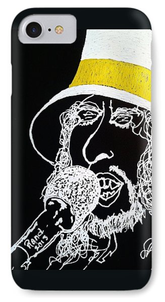 IPhone Case featuring the drawing Dylan In Concert by Rand Swift
