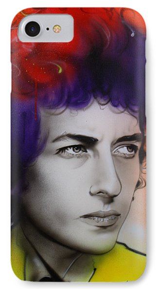 Bob Dylan - ' Dylan ' IPhone 7 Case by Christian Chapman Art