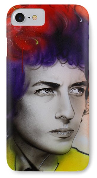 Bob Dylan - ' Dylan ' IPhone Case by Christian Chapman Art