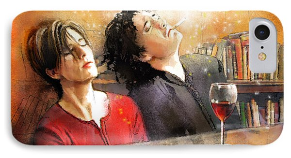 Dylan Moran And Tamsin Greig In Black Books IPhone Case by Miki De Goodaboom