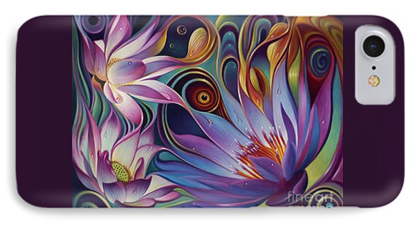 Dynamic Floral Fantasy Phone Case by Ricardo Chavez-Mendez