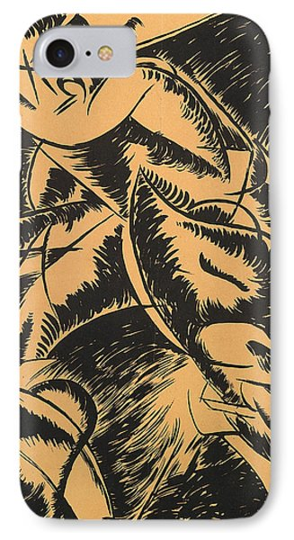 Dynamism Of A Human Body IPhone Case by Umberto Boccioni