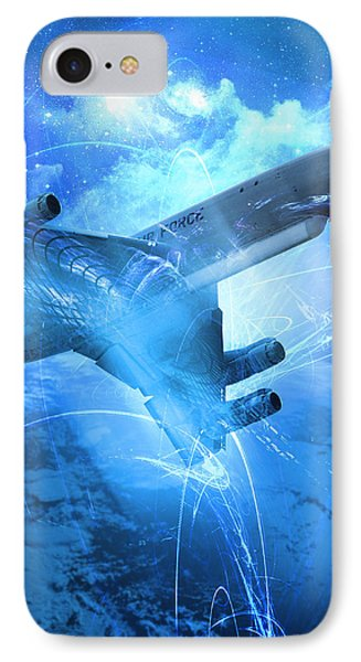 E-8 Joint Stars---blue Space IPhone Case