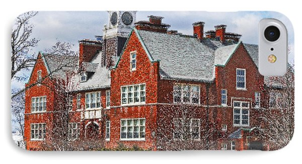 IPhone Case featuring the photograph E B Newton School Winthrop Ma by Caroline Stella