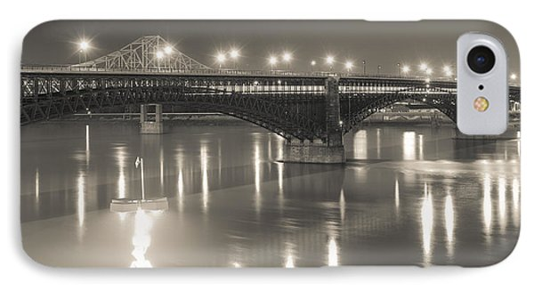 Eads Bridge And Train IPhone Case