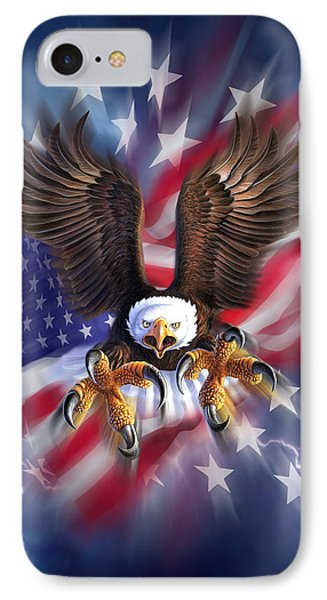Eagle Burst IPhone Case by Jerry LoFaro