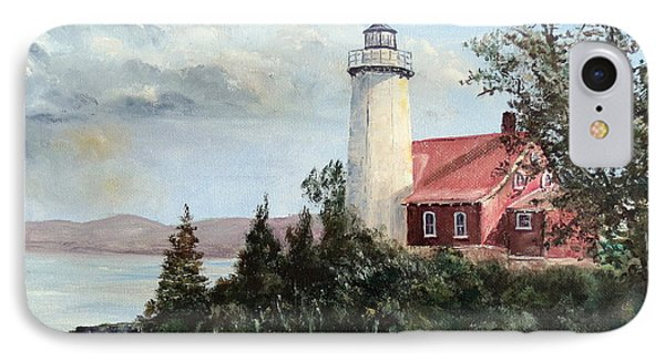 Eagle Harbor Light Phone Case by Lee Piper
