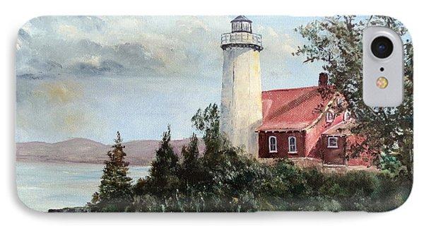 Eagle Harbor Light IPhone Case