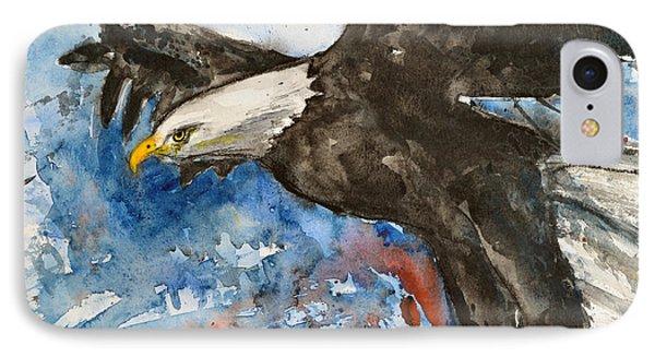 Eagle In Flight IPhone Case by Ismeta Gruenwald