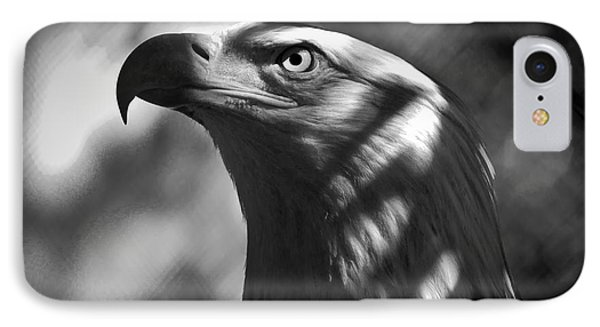 Eagle In Shadows Phone Case by Robert Frederick