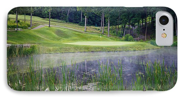 Eagle Knoll - Hole Fourteen - Mist On The Lake IPhone Case