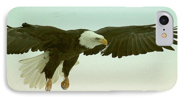 Eagle Landing IPhone Case by Myrna Bradshaw