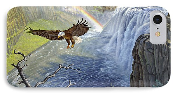 Eagle-mesa Falls Phone Case by Paul Krapf