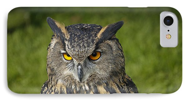 Eagle Owl Phone Case by Clare Bambers