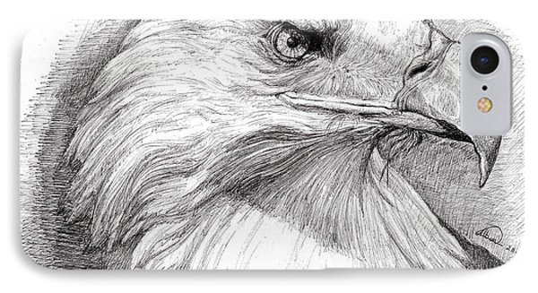 Eagle Portrait IPhone Case