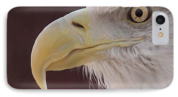 Eagle Portrait Freehand IPhone Case by Ernie Echols