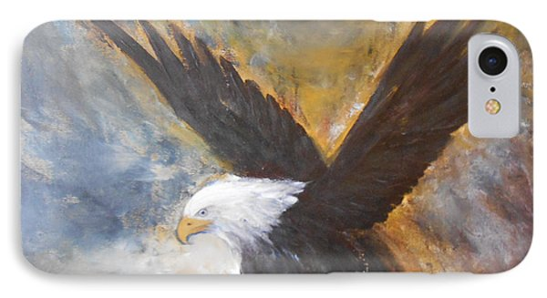 IPhone Case featuring the painting Eagle Spirit by Jane  See