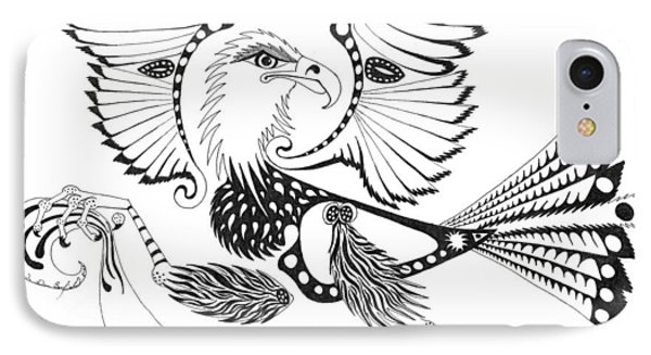 Eagle With A Banner IPhone Case by Melinda Dare Benfield