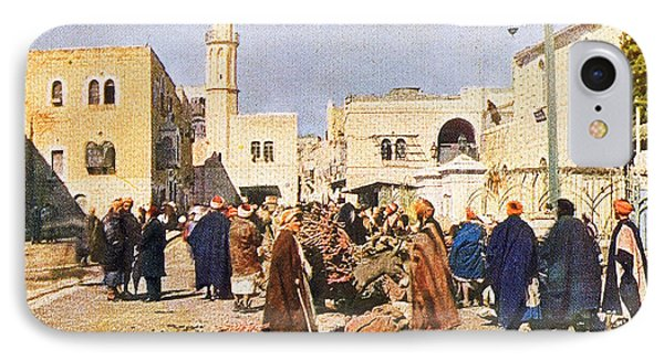 Early 19th Century Bethlehem Market IPhone Case by Munir Alawi
