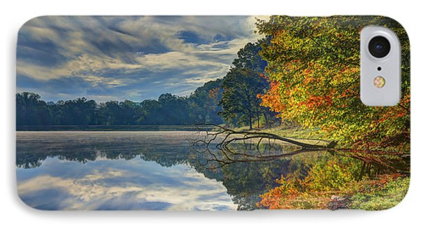 IPhone Case featuring the photograph Early Autumn At Caldwell Lake by Jaki Miller