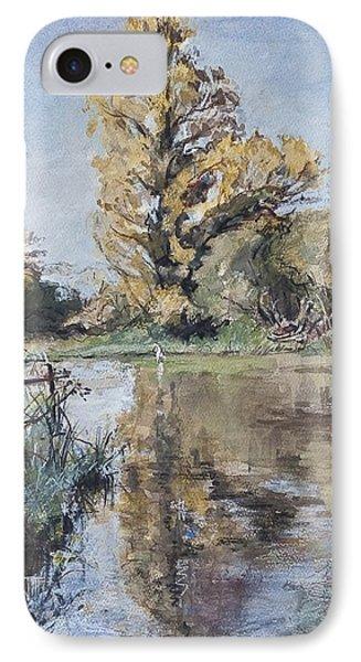 Early Autumn On The River Test Phone Case by Caroline Hervey-Bathurst