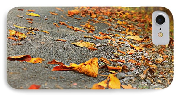 IPhone Case featuring the photograph Early Autumn Road by Candice Trimble