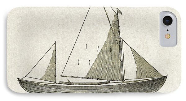 Early Canoe Sketch IPhone Case by Gary Bodnar