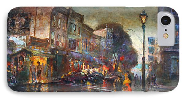 Early Evening In Main Street Nyack IPhone Case