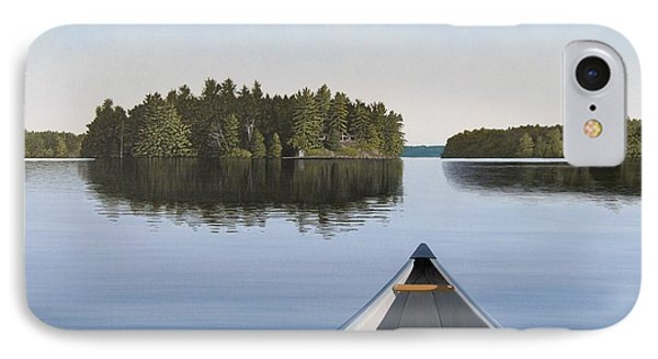 IPhone Case featuring the painting Early Evening Paddle  by Kenneth M  Kirsch