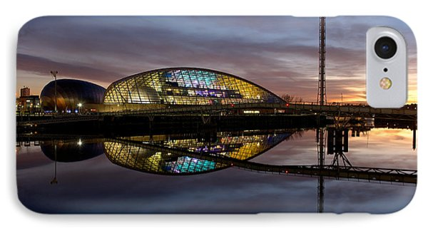IPhone Case featuring the photograph Early Evening Reflections Of The Science Centre by Stephen Taylor