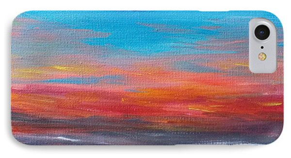 IPhone Case featuring the painting Early Evening Sky by Martin Blakeley