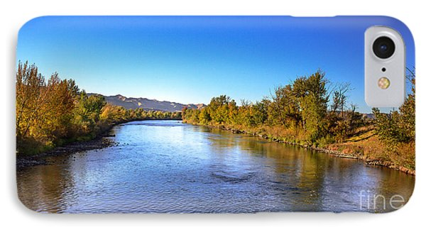 Early Fall On The Payette River IPhone Case by Robert Bales
