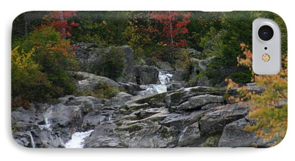 IPhone Case featuring the photograph Early Fall Waterfall by Denyse Duhaime