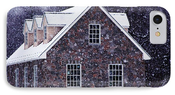 IPhone Case featuring the photograph Early January Snow In Maryland by Andy Lawless