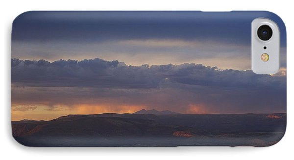IPhone Case featuring the photograph Early Monsoon Sunset Over San Francisco Peaks by Ron Chilston