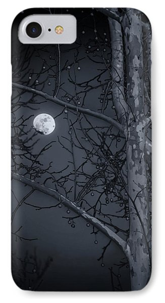 IPhone Case featuring the photograph Early Moon In Black And White by Micah Goff