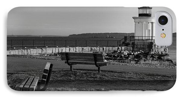 Early Morning At Bug Lighthouse Bw IPhone Case