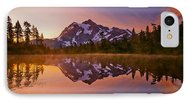 Early Morning At Picture Lake Phone Case by Darren  White