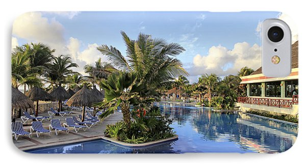 IPhone Case featuring the photograph Early Morning At The Pool by Teresa Zieba