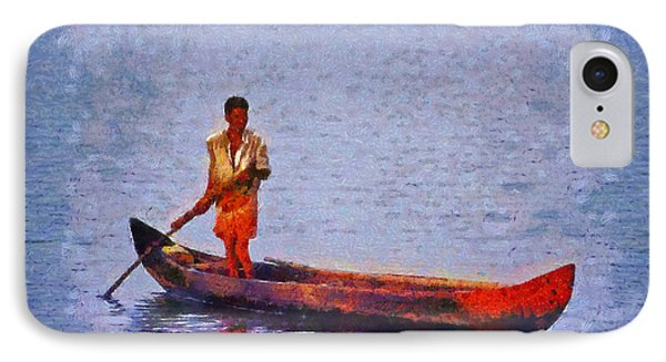 Early Morning Fishing In India Phone Case by George Atsametakis