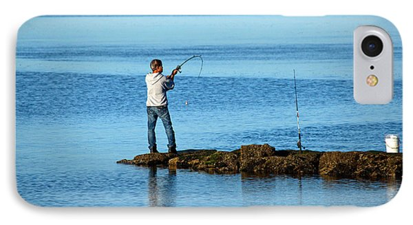 Early Morning Fishing Phone Case by Karol Livote